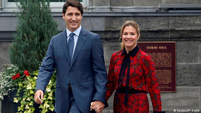 Kanada Justin und Sophie Gregoire Trudeau (Reuters/P. Doyle)