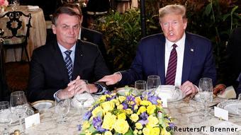 Во время переговоров Болсонару и Трампа, 7 марта