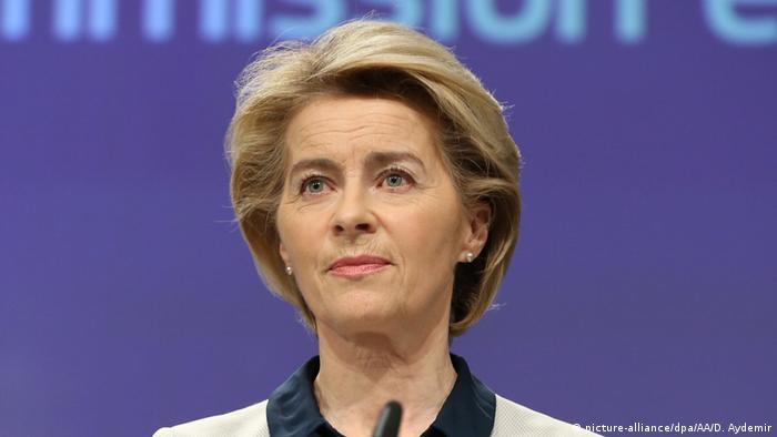 Belgien | Ursula von der Leyen zur aktuellen Lage zum Corona Virus | Brüssel (picture-alliance/dpa/AA/D. Aydemir)