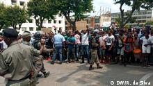 Informelle Verkäufer protestieren in Maputo, der Hauptstadt von Mosambik. Ort: Maputo / Mosambik Datum: 13.03.2020