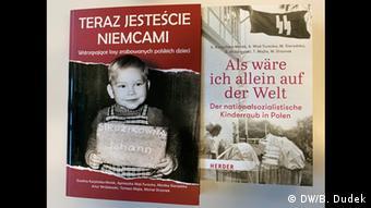 Okładki książek nt. germanizacji polskich dzieci