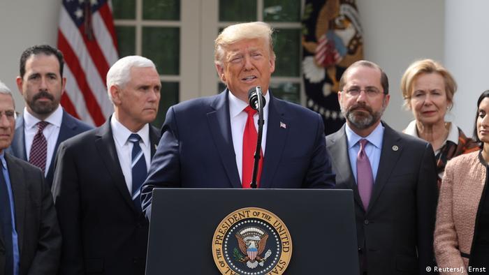 Donald Trump em pronunciamento na Casa Branca