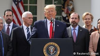 USA | US-Präsident Trump erklärt die Coronavirus-Pandemie (Reuters/J. Ernst)
