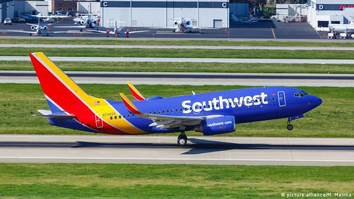 A Southwest airlines Boeing 737
