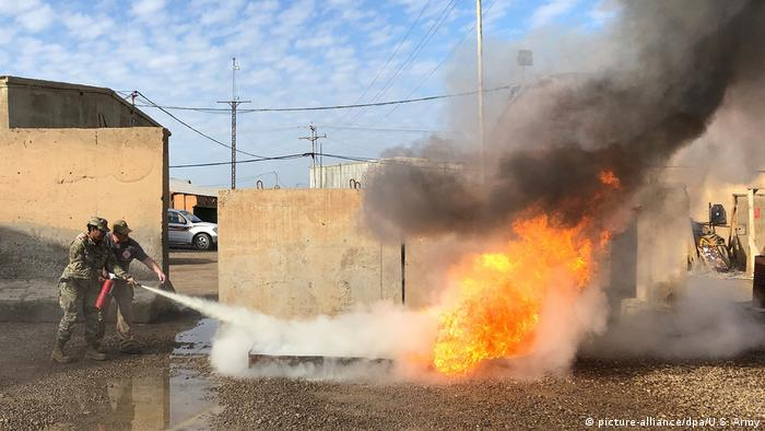 پایگاه نظامی تاجی در عراق که مورد استفاده نیروهای آمریکایی است، بار دیگر مورد حمله راکتی قرار گرفت