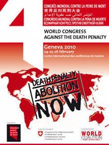 Plakat des 'World Congress Against The Death Penalty' (Quelle: www.abolition.fr)