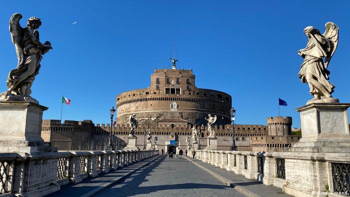 Castel Sant'Angelo in Rome, deserted