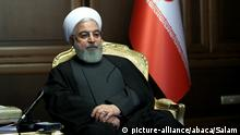 Iranian President Hassan Rouhani, held a video conference with the Minister of Health and other staff presenting reports on measures taken to combat the spread of coronavirus and new recommendations. Submitted to the Staff for approval. The coronavirus outbreak in Iran is one of the deadliest outside of China and has so far killed 611 people and infected more than 12,729. Tehran, Iran, on March 14, 2020. Photo by SalamPix/ABACAPRESS.COM |