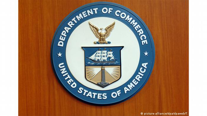 Wappen der US-Ministerien - Handel | Department of Commerce (picture-alliance/dpa/dpaweb/T. Brakemeier)