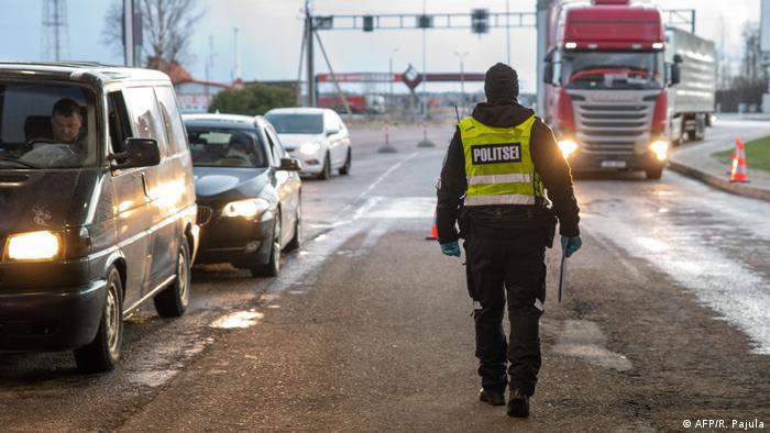 Контроль на границе Эстонии и Латвии