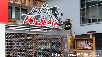 Один из закрытых теперь апре-ски-баров в Ишгле
