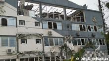 Hotel Palmeiras in Beira, Mosambik, von Idai geschädigt