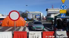 Deutsch-polnischer Grenzübergang Frankfurt Oder - Slubice 15.03.2020. Wegen Coronakrise hat Polen die Grenze zu Deutschland zugemacht. Nur noch polnische Staatsbürger dürfen ins Heimat-Land einfahren.