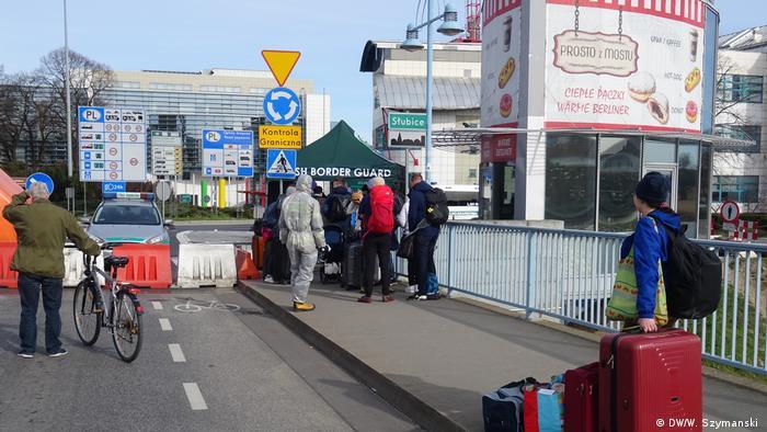 Grenzschließung Polen Deutschland Slubice Coronakrise (DW/W. Szymanski )
