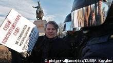 Proteste gegen vorgeschlagene Verfassungsänderungen in St. Petersburg