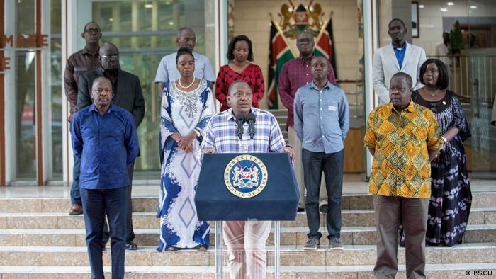 Kenia Coronavirus Uhuru Kenyatta Meeting