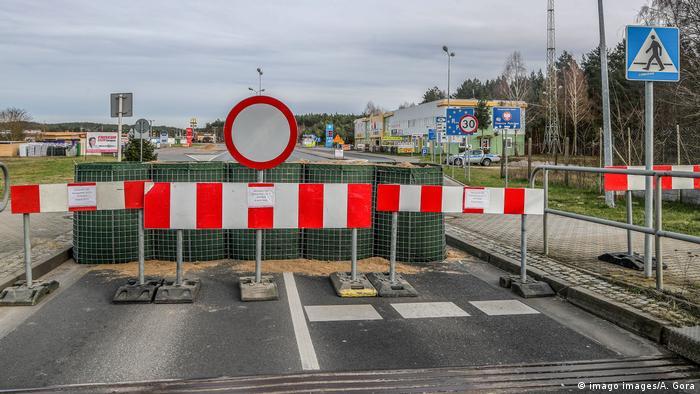 Zamknięte przejście graniczne w Hohenwutzen (Brandenburgia)