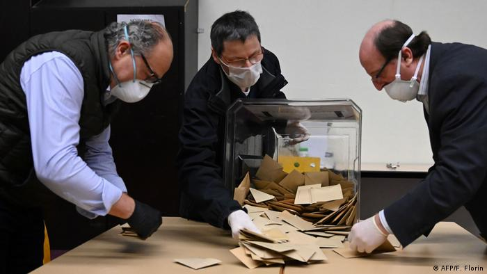 Ballots being counted in France