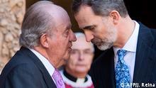 Spanien König Juan Carlos und Sohn König Felipe VI