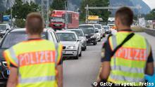 Deutsch Österreichische Grenze - Polizeikontrolle