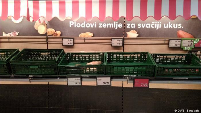 Prazne košare za povrće