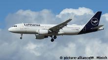 Airbus A320-200 der deutschen Fluggesellsschaft Lufthansa