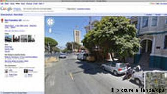 Screen shot of the Google Street View page