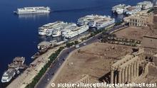 egypt, luxor city along the nile, aerial view | Verwendung weltweit, Keine Weitergabe an Wiederverkäufer.