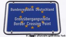 Germany border crossing sign