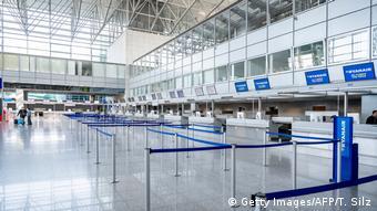 Εικόνα από το αεροδρόμιο της Φρανκφούρτης (16.03.2020)