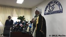 Ethiopian Islamic Affairs Supreme Council President Mufti Haji Omar Idris Wo: Addis Abeba, Ethiopia Wann: 16,03,2020 Author: Solomon Muchie (DW)