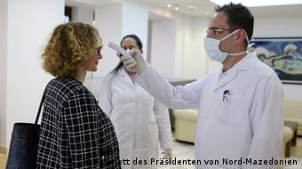 Nord-Mazedonien | Coronavirus | Pressebilder Kabinett des Präsidenten | Radmila Sekerinska