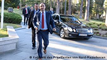 Nord-Mazedonien   Coronavirus   Pressebilder Kabinett des Präsidenten   Nake Culev , Innenminister (Kabinett des Präsidenten von Nord-Mazedonien)