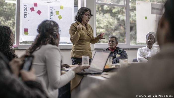 Encuentro de activistas de DD. HH. de Oxfam Intermón en Bogotá.