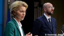 Belgien Brüssel EU   G7 zu Coronavirus   Ursula von der Leyen & Charles Michel