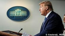 USA Washington Weißes Haus | Coronavirus | Donald Trump, Präsident