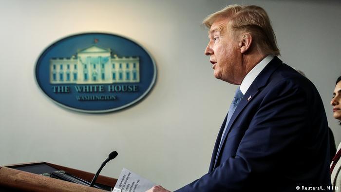 USA Washington Weißes Haus   Coronavirus   Donald Trump, Präsident (Reuters/L. Millis)