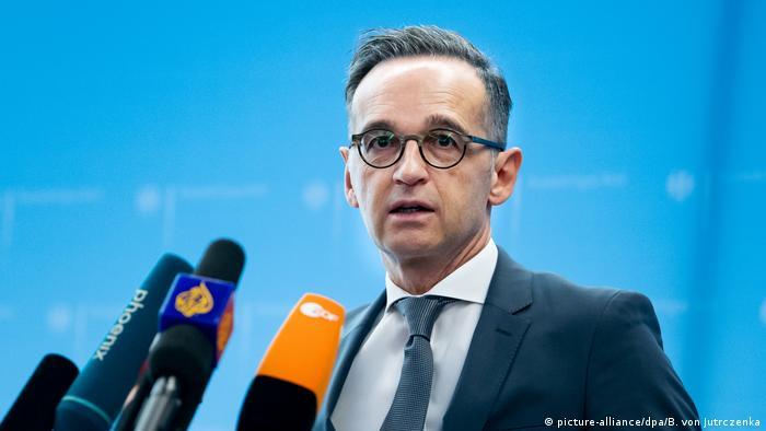 Deutschland Coronavirus - Pk Außenminister Heiko Maas (picture-alliance/dpa/B. von Jutrczenka)