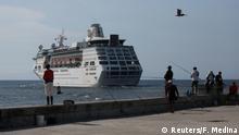 FILE PHOTO: Cruise ship MS Empress of the Seas, operated by Royal Caribbean International, leaves the bay of Havana, Cuba, June 5, 2019. REUTERS/Fernando Medina/File Photo