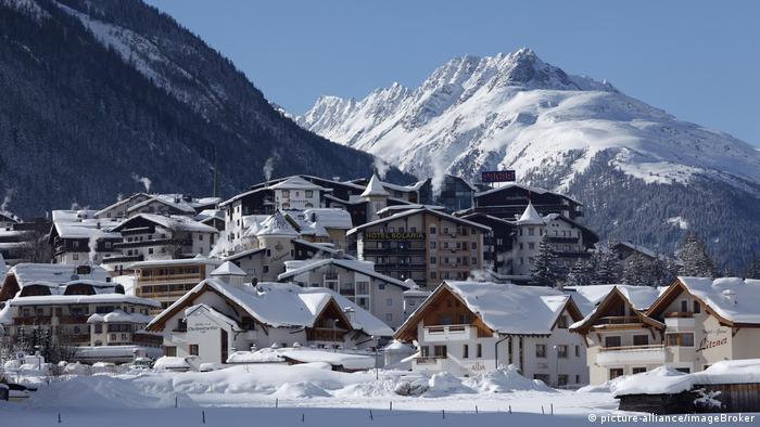 Популярний у Європі австрійський гірськолижний курорт Ішгль