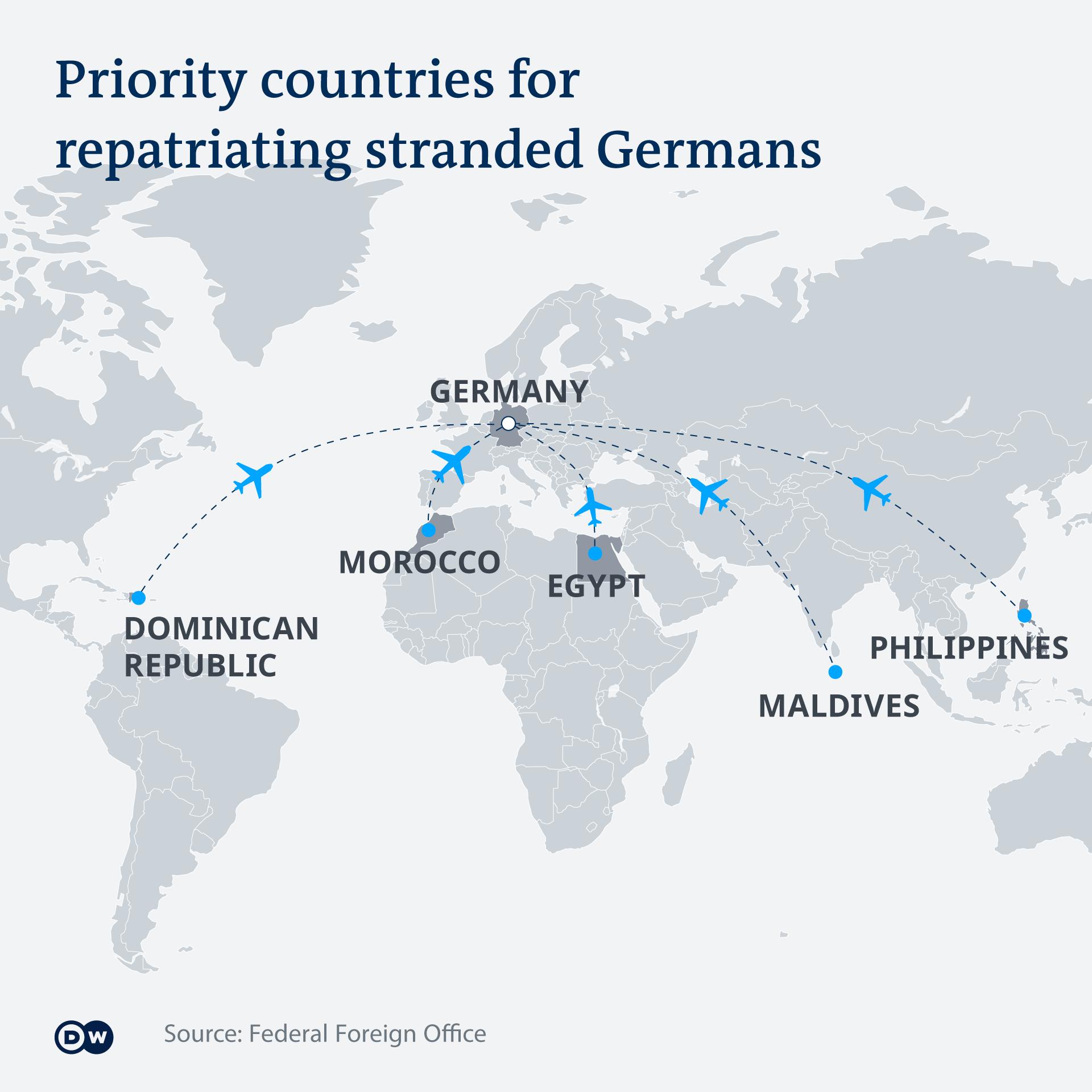 Coronavirus: Germany initiates emergency plan to fly back stranded tourists  | News | DW | 17.03.2020