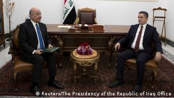 Irak Barham Salih und Adnan al-Surfi (Reuters/The Presidency of the Republic of Iraq Office)