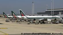 Alitalia aeroplanes at Fiumicino - Leonardo da Vinci International Airport, Rome, Italy Photo © Fabio Mazzarella/Sintesi |