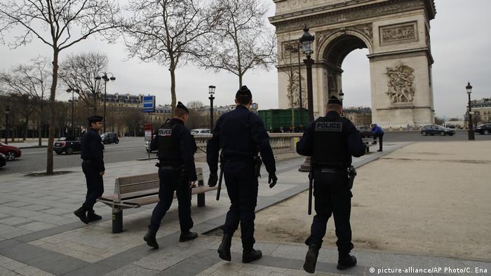 Police patrol Paris, France
