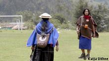Global Ideas - Members of the Misak community in the Colombian province of Cauca