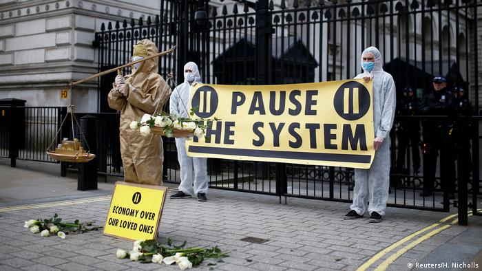 Protest London UK Pause the System