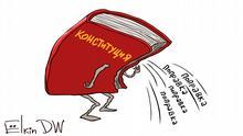 Karikatur von Sergey Elkin Neue Verfassung in Russland
