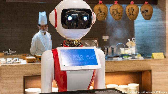 A robot at a restaurant in China