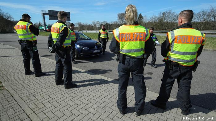 Deutschland Grenze zu Frankreich in Saarbrücken | Coronavirus | Grenzschließung