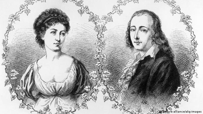 Suzet Gontard i Fridrih Helderlin, rad Norberta Šredla nastao oko 1870.